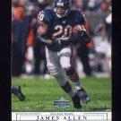 2001 Upper Deck Football #029 James Allen - Chicago Bears