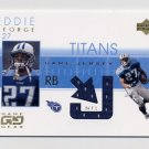 2001 UD Game Gear Jerseys #EG-J Eddie George - Tennessee Titans Game-Used Jersey