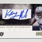 2001 UD Game Gear Autographs #KYGS Ken-Yon Rambo RC - Oakland Raiders AUTO
