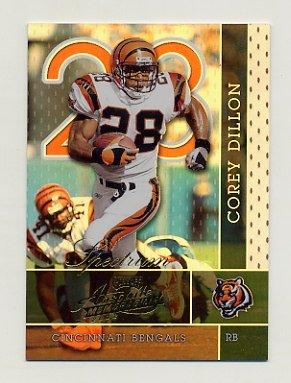 2002 Absolute Memorabilia Football Spectrum #024 Corey Dillon - Cincinnati Bengals /100
