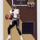 2002 Flair Football Jersey Heights Jerseys #02 Aaron Brooks - Saints Game-Used Jersey