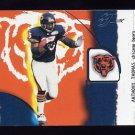 2002 Flair Football Franchise Favorites #05 Anthony Thomas - Chicago Bears