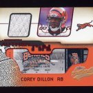 2002 Fleer Authentix Jersey Authentix Ripped #JACD Corey Dillon - Bengals Game-Used Jersey
