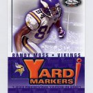 2002 Fleer Box Score Yard Markers #03YM Randy Moss - Minnesota Vikings
