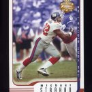 2002 Fleer Focus JE Football #089 Michael Strahan - New York Giants