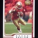 2002 Fleer Focus JE Football #036 Kevan Barlow - San Francisco 49ers