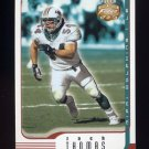 2002 Fleer Focus JE Football #014 Zach Thomas - Miami Dolphins