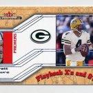2002 Fleer Maximum Football Playbook X's and O's #18 Brett Favre - Green Bay Packers