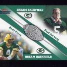 2002 Fleer Throwbacks QB Collection Dream Backfield #1 Paul Hornung / Brett Favre - Packers