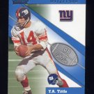 2002 Fleer Throwbacks QB Collection #15 Y.A. Tittle - New York Giants /1500