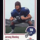 2002 Fleer Throwbacks Football #121 Jeremy Shockey RC - New York Giants