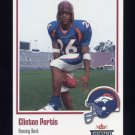 2002 Fleer Throwbacks Football #116 Clinton Portis RC - Denver Broncos