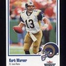2002 Fleer Throwbacks Football #100 Kurt Warner - St. Louis Rams