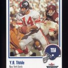 2002 Fleer Throwbacks Football #003 Y.A. Tittle - New York Giants