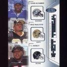 2002 Hot Prospects Hat Trick #HTAMD Shaun Alexander / Deuce McAllister / T.J. Duckett
