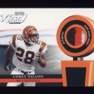 2002 Playoff Piece Of The Game Materials #08J Corey Dillon - Bengals 3 Color Game-Used Jersey