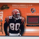 2001 Absolute Memorabilia Leather And Laces #LL11 Peter Warrick - Bengals Game-Used /825