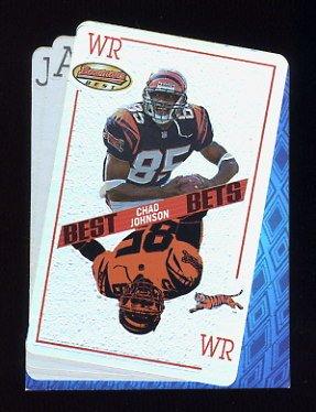 Verzamelkaarten, ruilkaarten 2001 Bowman's Best #117 Chad Johnson Cincinnati Bengals Rookie Football Card Verzamelingen