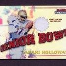 2001 Bowman Chrome Rookie Relics #BCRJH Jabari Holloway Game-Used Jersey