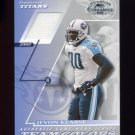 2001 Donruss Classics Team Colors #TC18 Jevon Kearse - Titans Game-Used Jersey