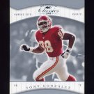 2001 Donruss Classics Football #043 Tony Gonzalez - Kansas City Chiefs