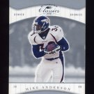 2001 Donruss Classics Football #027 Mike Anderson - Denver Broncos