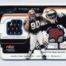 2001 Fleer Focus Rookie Premiere Jersey Shirts And Skins #RPJS Justin Smith - Bengals Game-Used /50