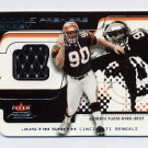 2001 Fleer Focus Rookie Premiere Jersey #RPJS Justin Smith RC - Bengals Game-Used Jersey