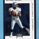2001 Fleer Premium Football #059 Anthony Wright - Dallas Cowboys