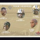 2001 Fleer Tradition Football #398 New Orleans Saints Team Checklist