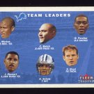 2001 Fleer Tradition Football #392 Detroit Lions Team Checklist