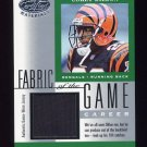 2001 Leaf Certified Materials Fabric Of The Game #077CR Corey Dillon - Bengals Game-Used Jersey /104