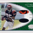 2001 Leaf Certified Materials #112 Chad Johnson RC - Bengals Game-Used Jersey and Helmet 281/400
