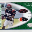 2001 Leaf Certified Materials #112 Chad Johnson RC - Bengals Game-Used Jersey and Football /400 Ex