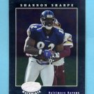 2001 Leaf Certified Materials Football #079 Shannon Sharpe - Baltimore Ravens