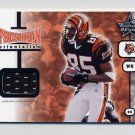 2001 Leaf Rookies And Stars #FO25 Chad Johnson RC - Bengals Game-Used Jersey