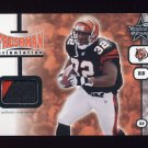 2001 Leaf Rookies And Stars Freshman Orientation #FO15 Rudi Johnson RC - Bengals Game-Used Jersey