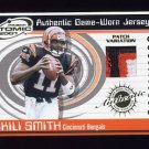 2001 Pacific Prism Atomic Jersey Patches #115 Akili Smith - Bengals Game-Used Jersey