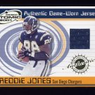 2001 Pacific Prism Atomic Jerseys #081 Freddie Jones - Chargers Game-Used Jersey