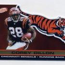 2001 Pacific Prism Atomic Gold #029 Corey Dillon - Cincinnati Bengals 001/116