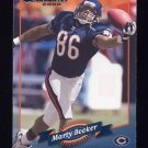 2000 Donruss Football #030 Marty Booker - Chicago Bears