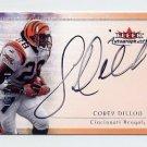 2000 Fleer Tradition Autographics Silver #37 Corey Dillon - Cincinnati Bengals AUTO 131/250