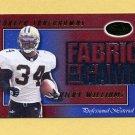 2000 Leaf Certified Fabric Of The Game #FG45 Ricky Williams - New Orleans Saints 0234/1000