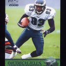 2000 Pacific Football #285 Dietrich Jells - Philadelphia Eagles