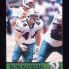 2000 Pacific Football #193 Rob Konrad - Miami Dolphins