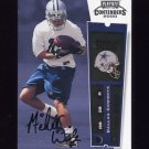 2000 Playoff Contenders Rookie Ticket #139 Michael Wiley RC - Dallas Cowboys AUTO