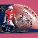 2000 Private Stock Private Signings #11 Michael Wiley - Dallas Cowboys AUTO
