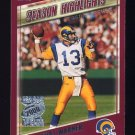 2000 Topps Season Opener Football #176 Kurt Warner - St. Louis Rams