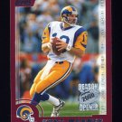 2000 Topps Season Opener Football #163 Kurt Warner - St. Louis Rams