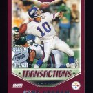 2000 Topps Season Opener Football #162 Kent Graham - Pittsburgh Steelers